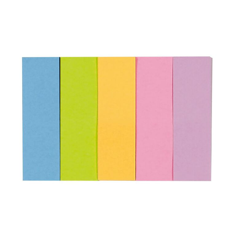 WS Fluro Sticky Page Marker 15mm x 50mm 100 Sheet 5 Pack, , hi-res