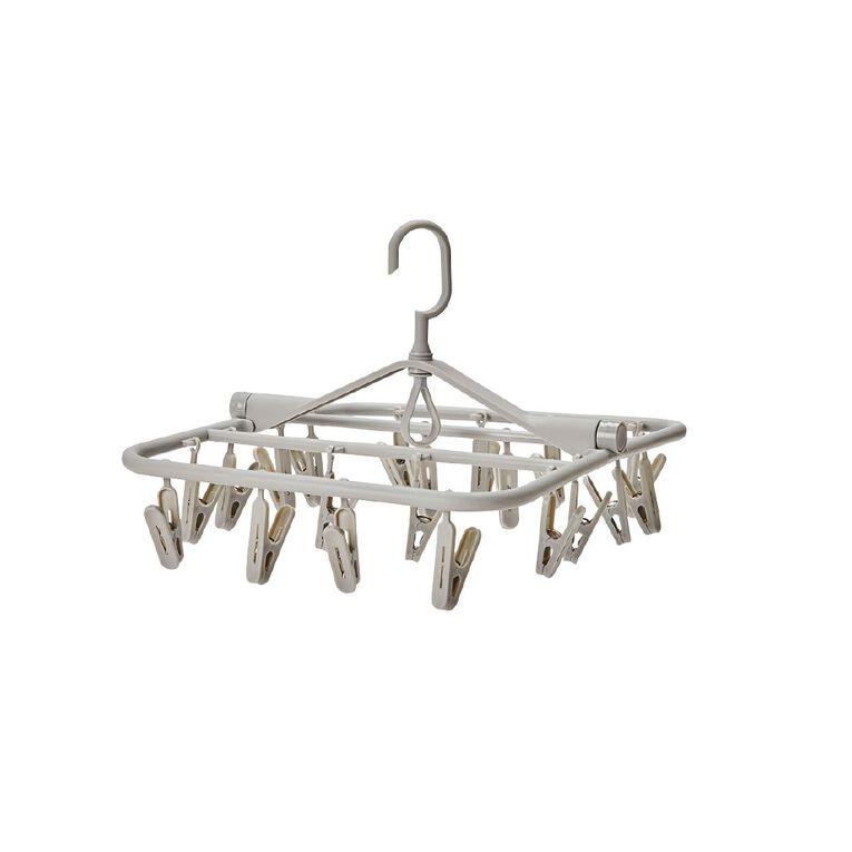 Living & Co Peg Hanger Charcoal, , hi-res