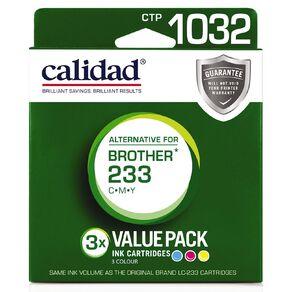 Calidad Brother LC233/231 Cyn Mag Yel 3 Pack