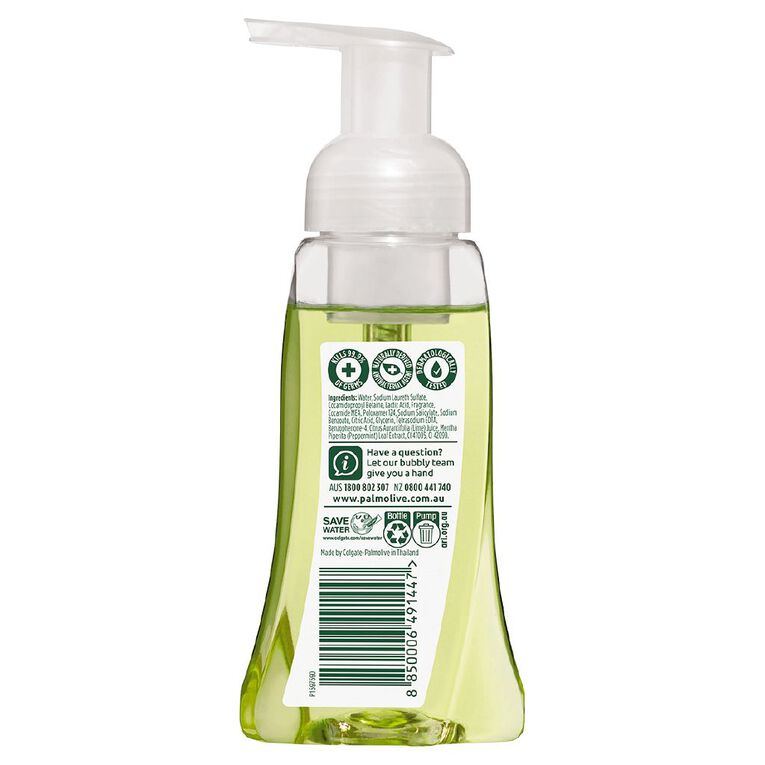 Palmolive Antibacterial Foaming Hand Wash Pump Lime & Mint 250ml, , hi-res