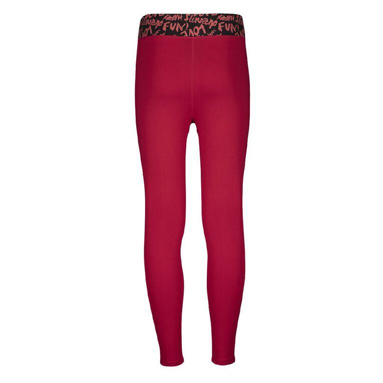 Active Intent Girl's 7/8th Plain Leggings, Pink Mid, hi-res