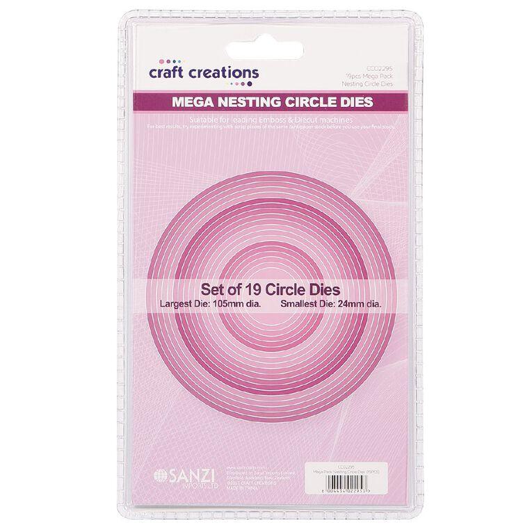 Craft Creations Nesting Dies Circle 19 Piece, , hi-res