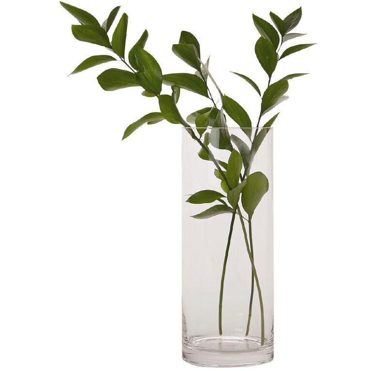 Living & Co Column Vase Clear 30cm, , hi-res