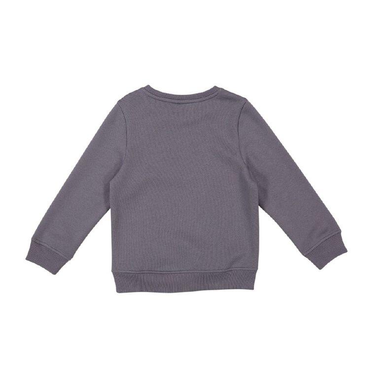 Young Original Print Crew Sweatshirt, Blue Mid, hi-res
