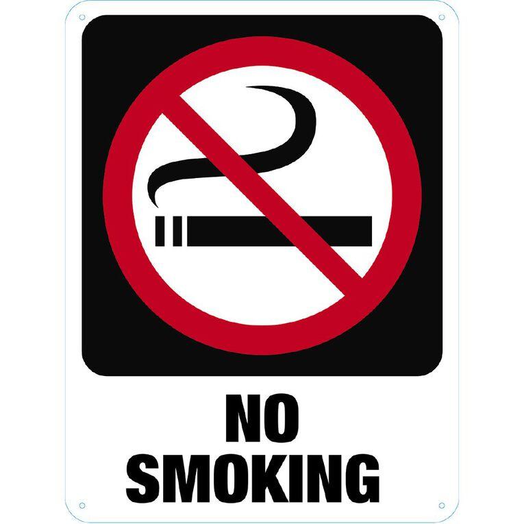 WS No Smoking Sign Large 600mm x 450mm, , hi-res