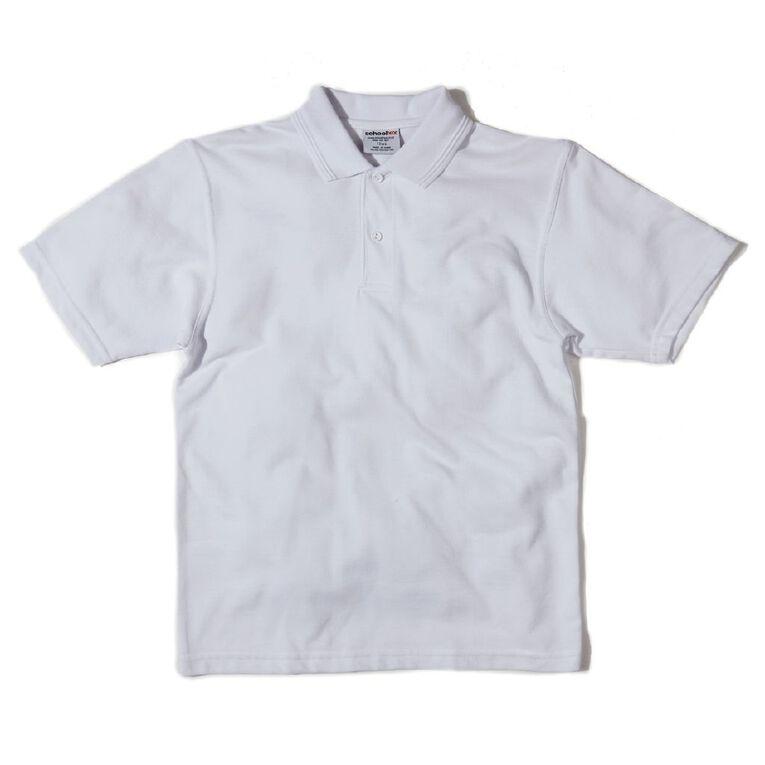 Schooltex Kids' Pique Polo, White, hi-res