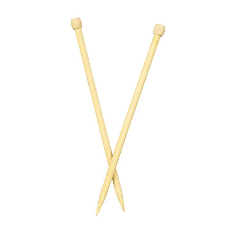 Uniti Knitting Needles Bamboo 12.0mm 35cm Brown 2 Pack, , hi-res