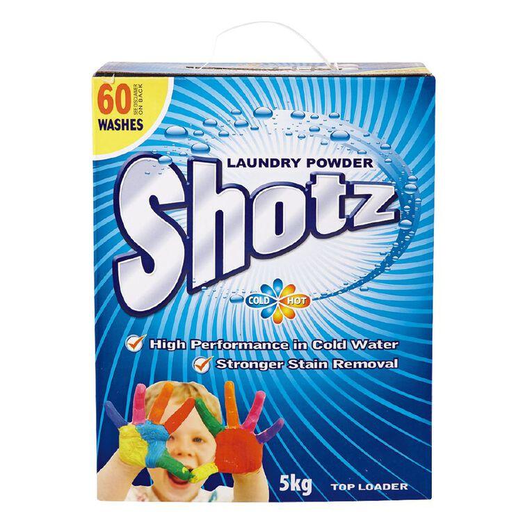 Shotz Cold Water Laundry Powder Top Loader 5kg, , hi-res