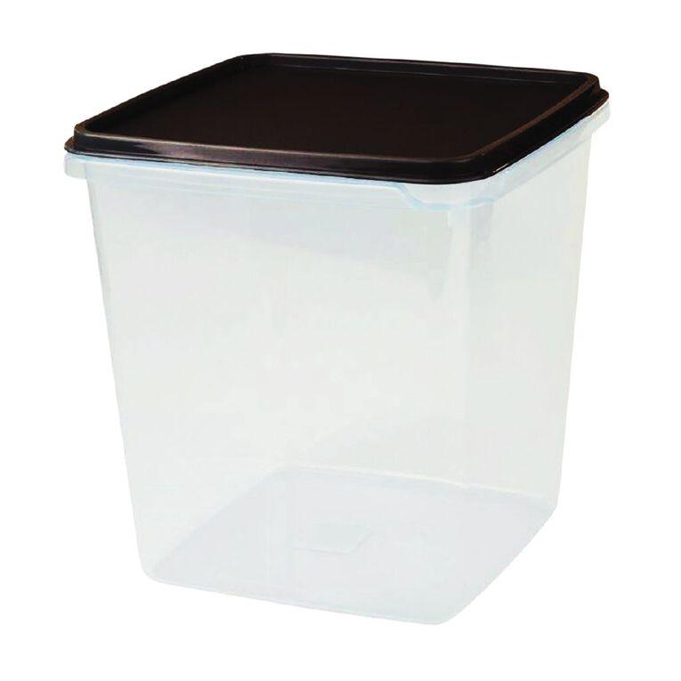 Cuisine Queen Food Storage Container 184mm x 184mm x 194mm Charcoal 4.4L, , hi-res