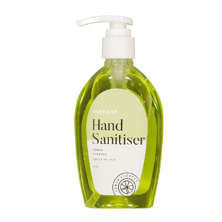 Hand Sanitiser Lemon Scented Pump 200ml, , hi-res