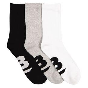 B FOR BONDS Men's Cushioned Crew Socks 3 Pack