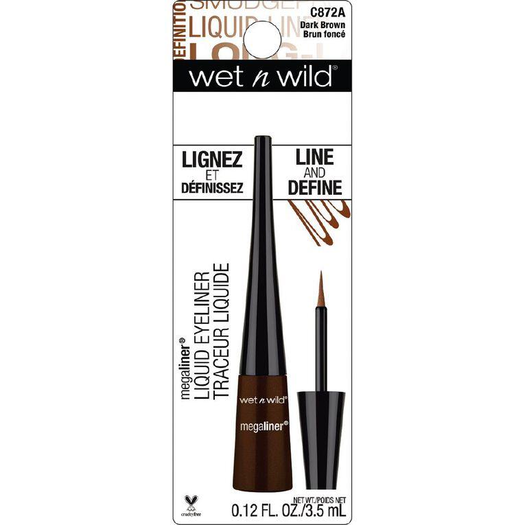 Wet n Wild MegaLiner Liquid Eyeliner Dark Brown, , hi-res