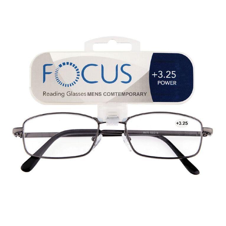 Focus Reading Glasses Men's Contemporary 3.25, , hi-res