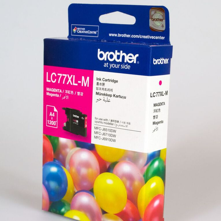 Brother Ink LC77XL Magenta (1200 Pages), , hi-res