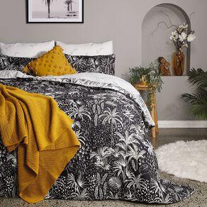 Living & Co Comforter Set 7 Piece Winter Palms Multi-Coloured