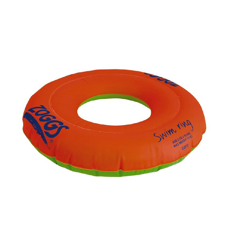 Zoggs Swimming Rings Red Sizes 1-3 Years, Red, hi-res