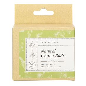 Cotton Buds Bamboo Stemmed 200 Pack