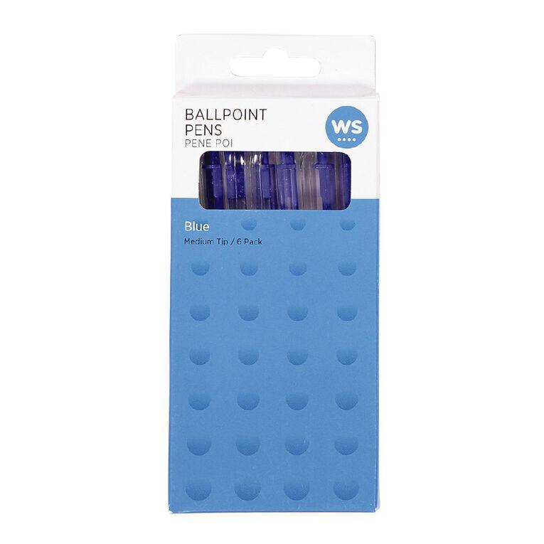 WS Ball Pens Sprint Grip 6 Pack Blue, , hi-res