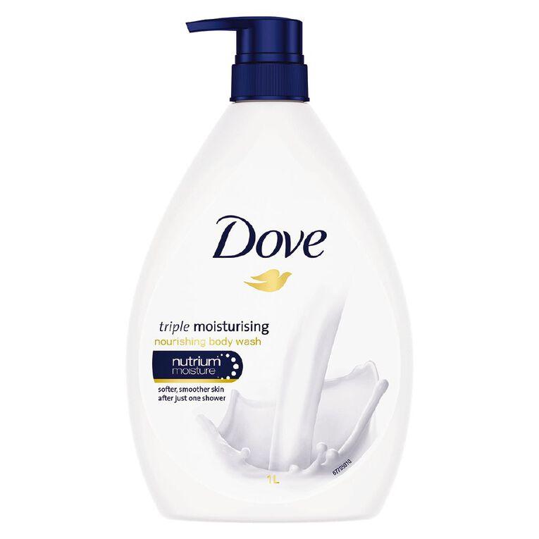 Dove Body Wash Triple Moisturising 1L, , hi-res