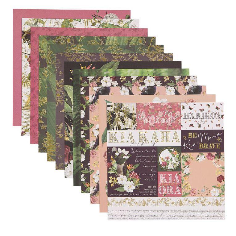 Uniti Designer Paper 12x12in 12 Sheets Kiwi Collective, , hi-res