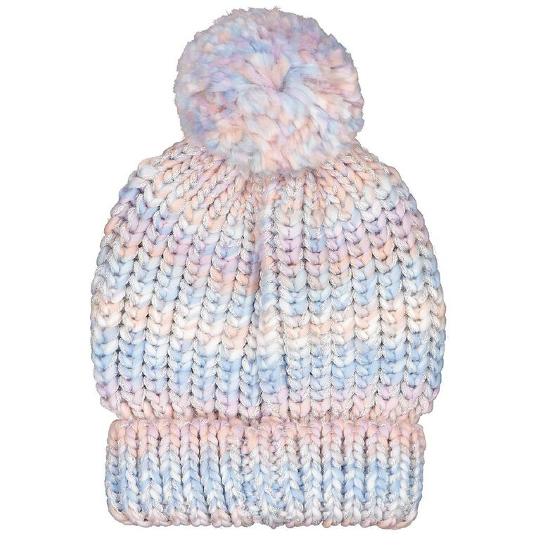Young Original Girls' Rainbow Beanie, Purple Light, hi-res image number null