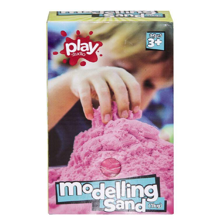 Play Studio Modelling Sand 1kg Assorted, , hi-res