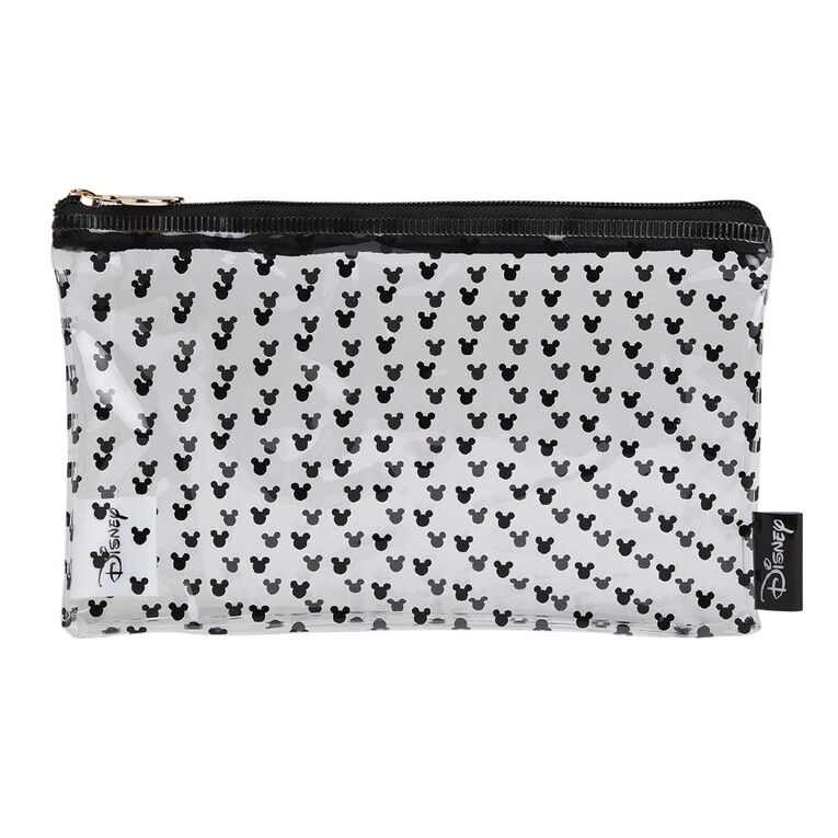 Mickey Mouse Disney Clear All Over Print Pencil Case Black, , hi-res