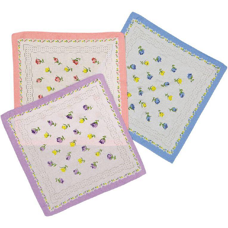 H&H Handkerchiefs 3 Pack, Multi-Coloured, hi-res