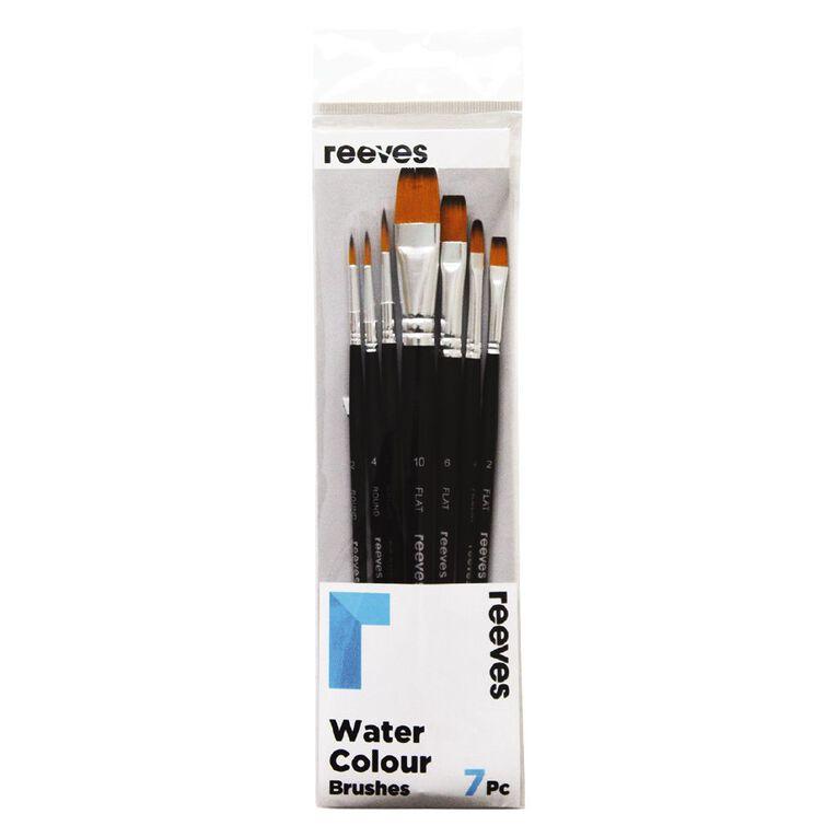 Reeves Watercolour Short Handle Brush Set of 7, , hi-res