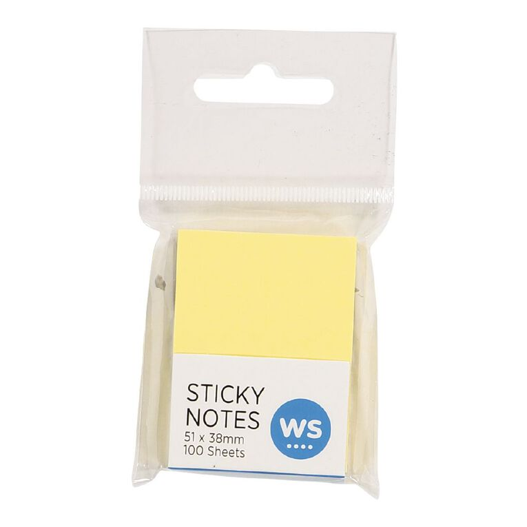 WS Sticky Notes 51mm x 38mm 100 Sheets, , hi-res
