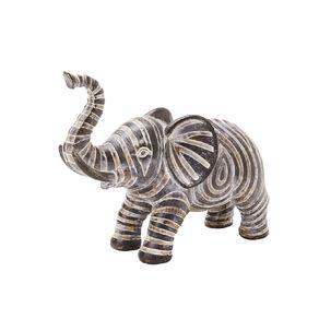 Living & Co Aztec Elephant Ornament Black