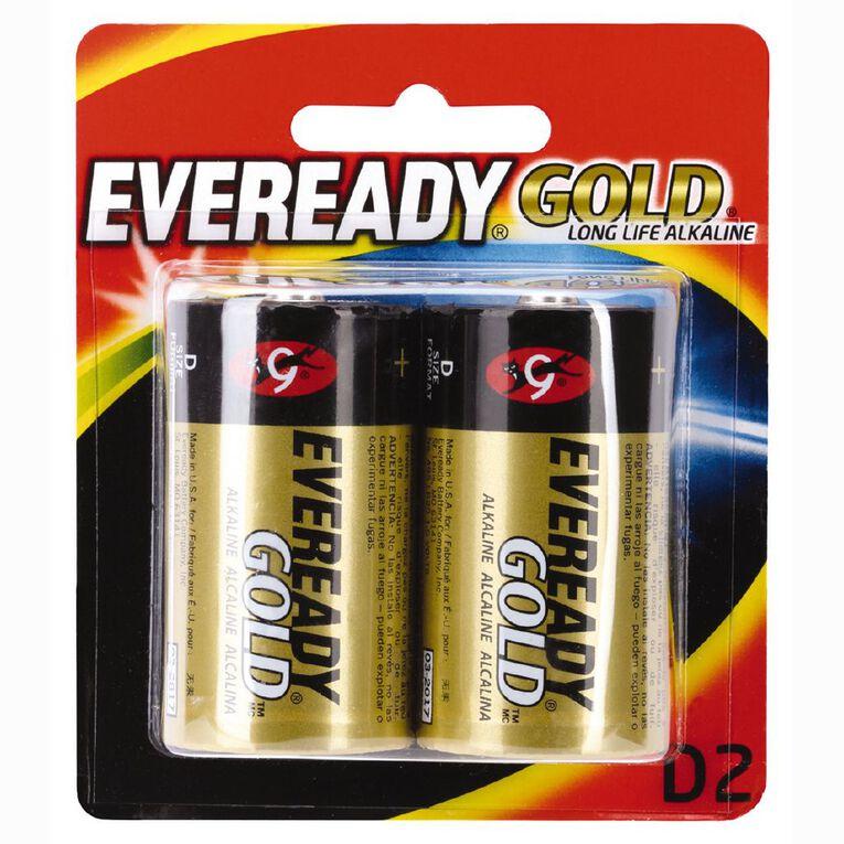 Eveready Gold Batteries D 2 Pack, , hi-res