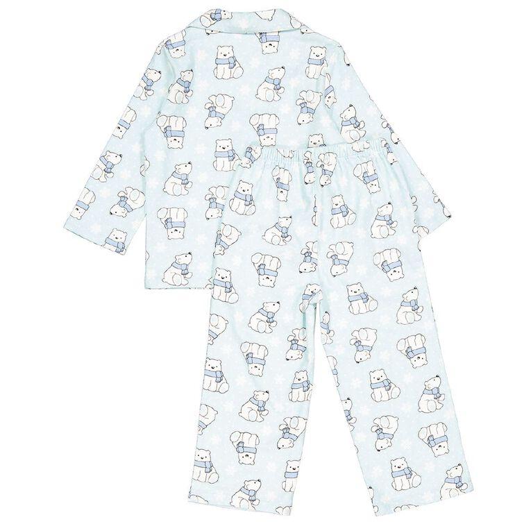 H&H Kids' Flannelette Pyjamas, Blue, hi-res