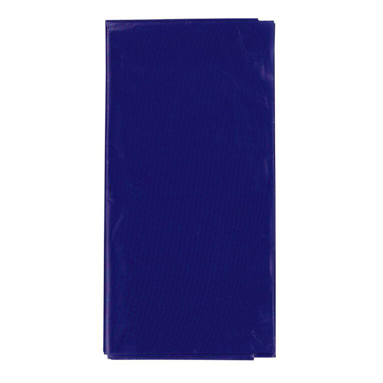 Party Inc Plastic Tablecover Royal Blue 137cm x 274cm, , hi-res