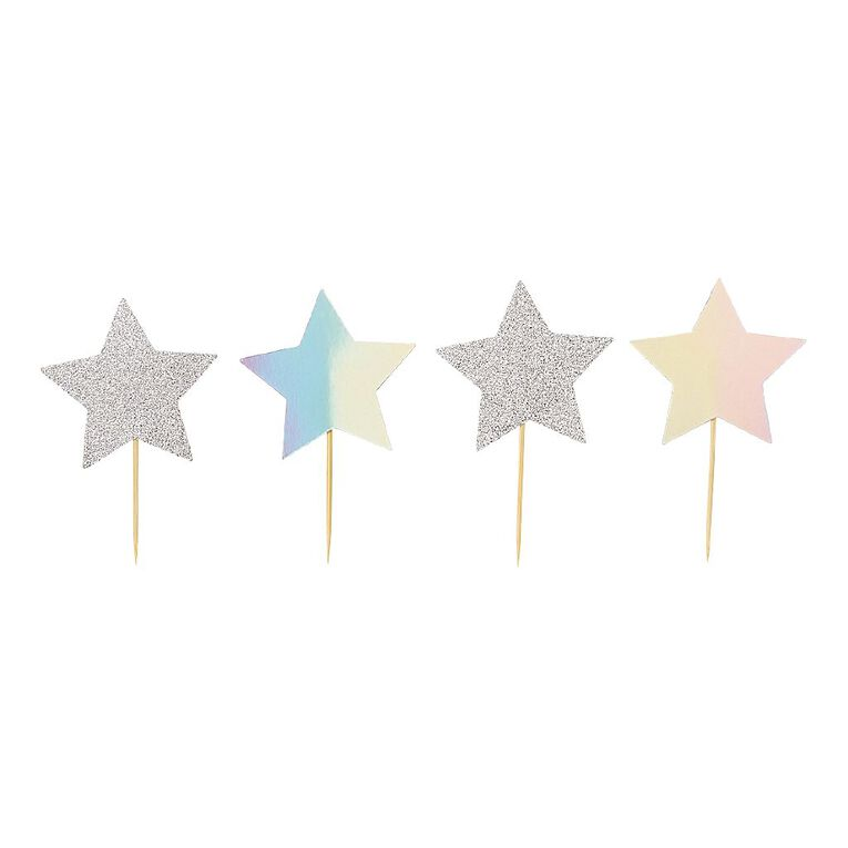 Party Inc Star Cupcake Toppers 12 Pack, , hi-res