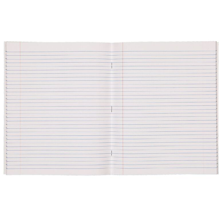 WS Exercise Book 1B5 7mm Ruled 40 Leaf Red, , hi-res