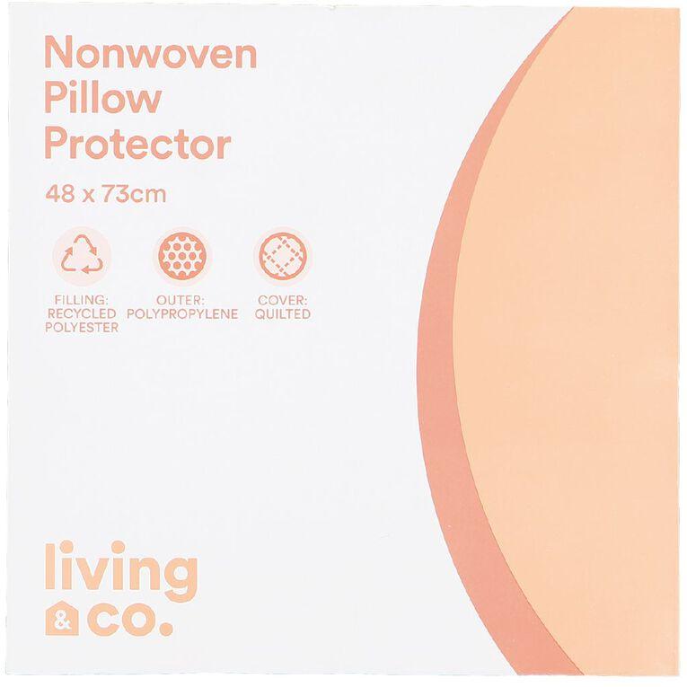 Living & Co Pillow Protector Non Woven White, , hi-res