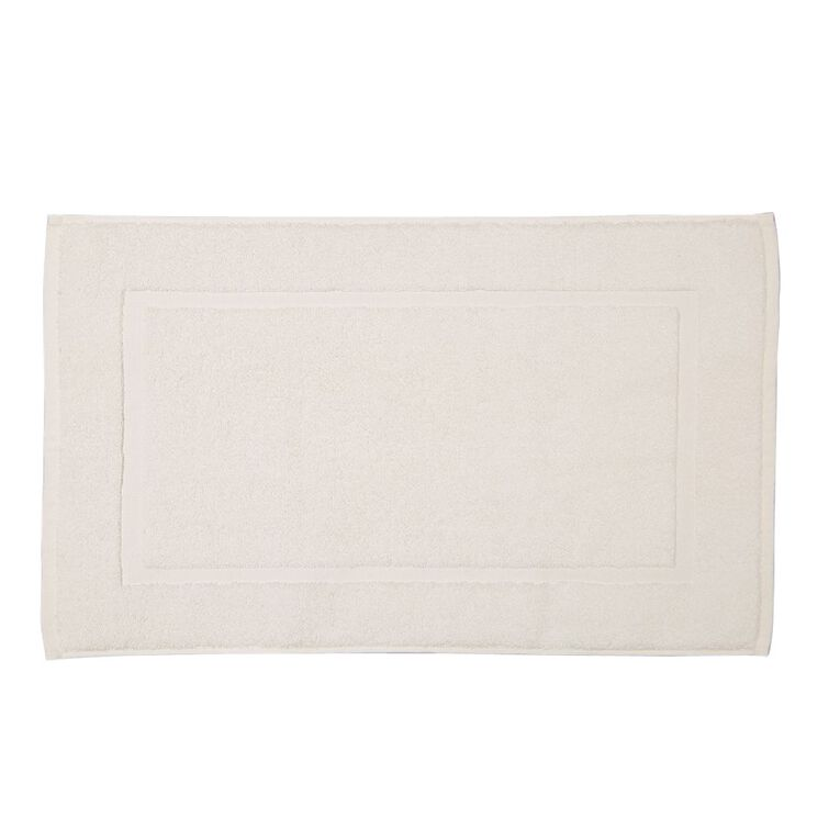 Living & Co Montreal Bath Mat White 45cm x 75cm, White, hi-res
