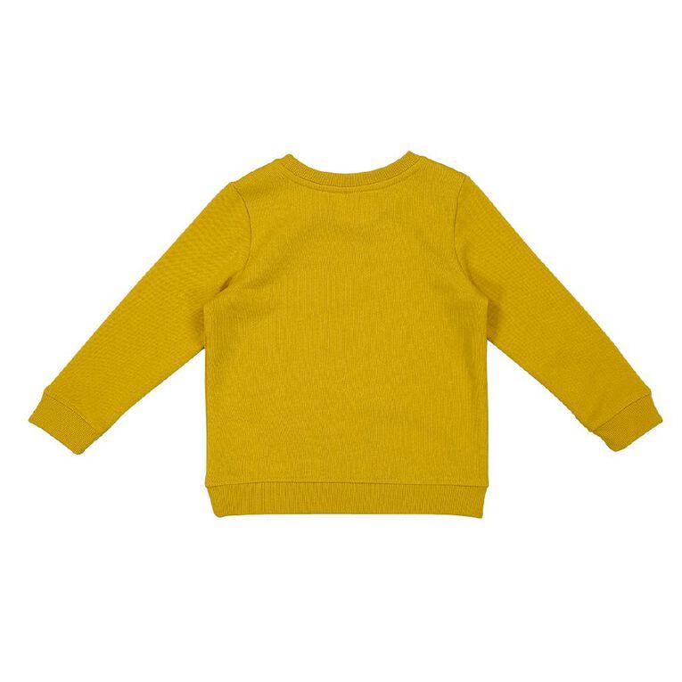 Young Original Toddler Printed Sweatshirt, Yellow Mid, hi-res