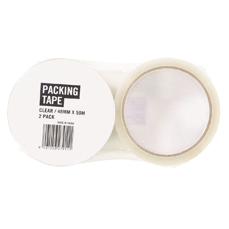 WS WS Packaging Tape Clear 48mm x 50m 2 Pack, , hi-res