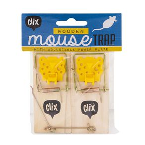 Clix Wooden Mouse Trap 2 Pack