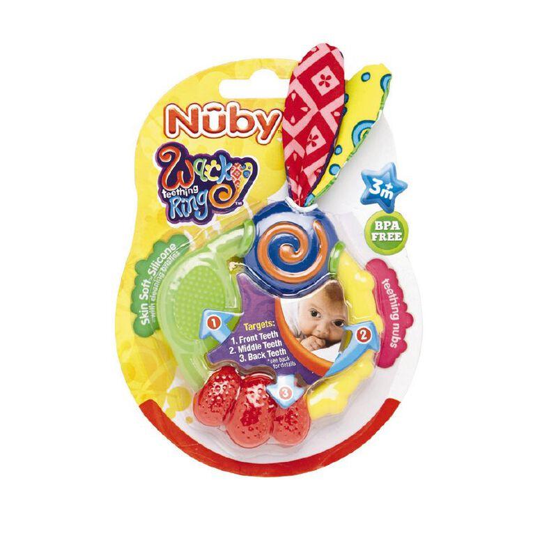 Nuby Wacky Teething Ring, , hi-res