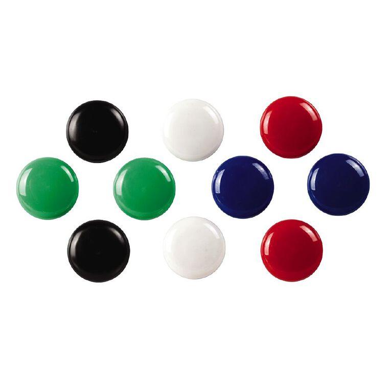 Quartet Magnetic Buttons 30mm 10 Pack Assorted, , hi-res