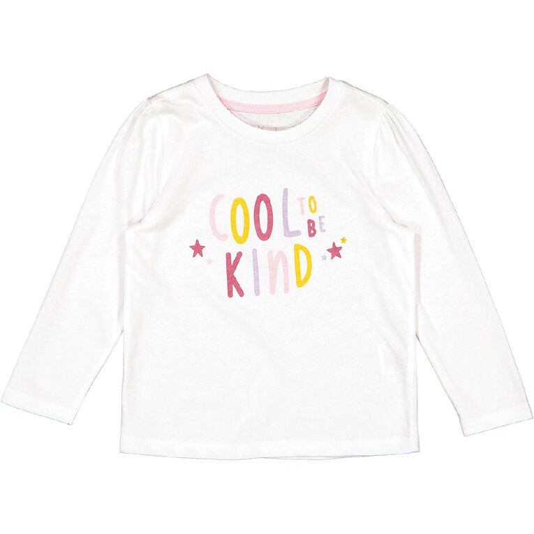 Young Original Toddler 2 Pack Long Sleeve Tee, White, hi-res