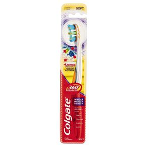 Colgate 360 Advanced Toothbrush Soft Assorted