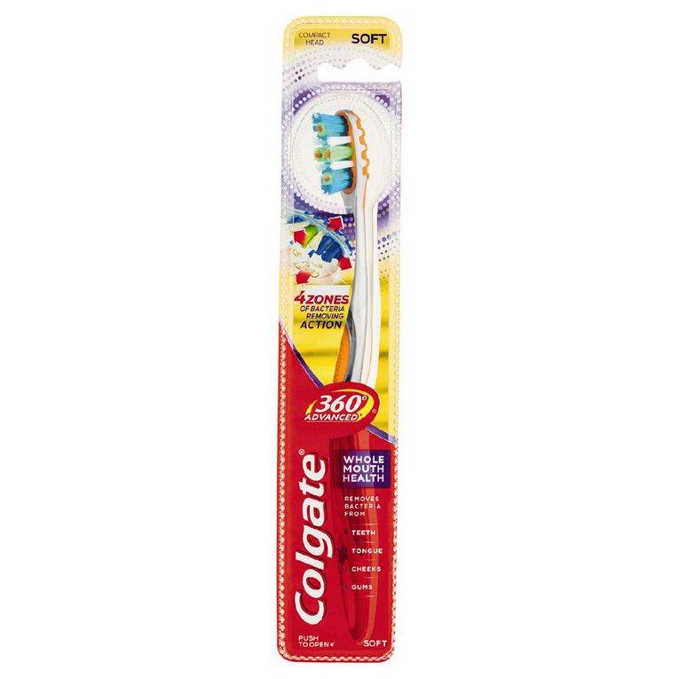 Colgate 360 Advanced Toothbrush Soft Assorted, , hi-res image number null