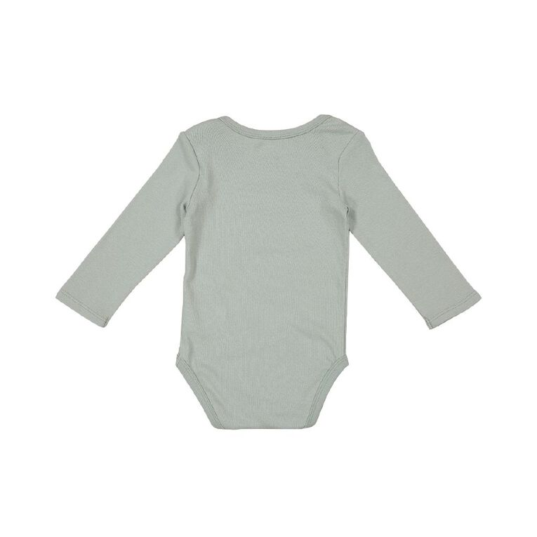 Young Original Baby Printed Long Sleeve Bodysuit, Blue Light, hi-res image number null