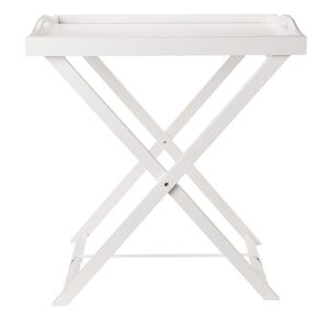 Living & Co Butler Tray Side Table White