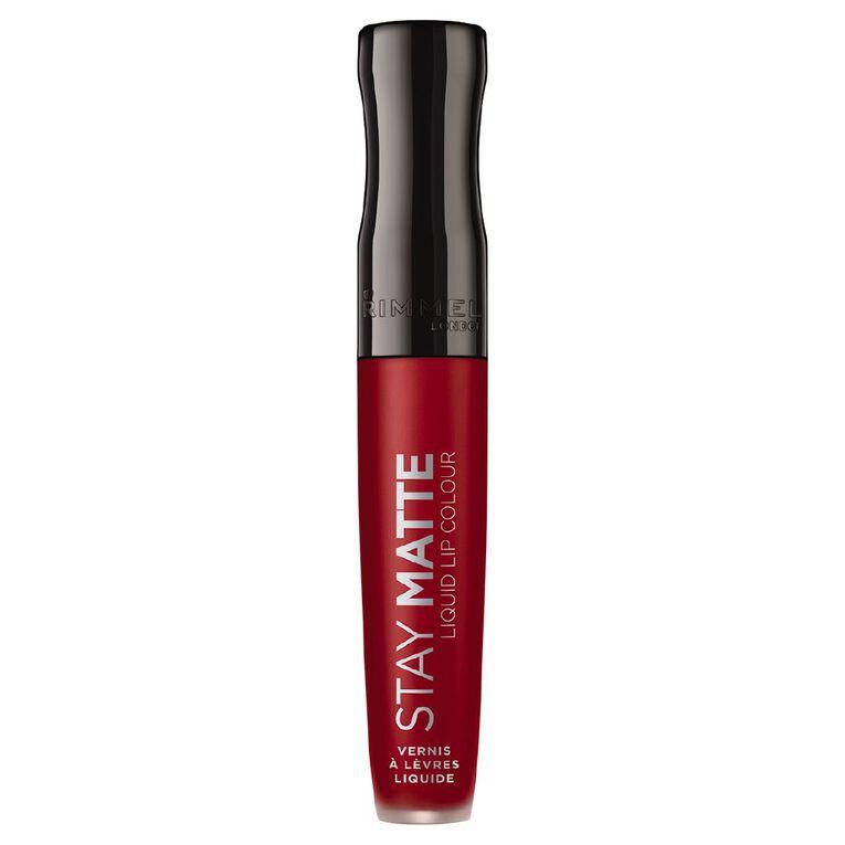 Rimmel Stay Matte Liquid Lip Colour #500 Fire Starter, , hi-res