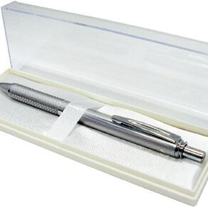 Pentel Energel Pen Aluminium 0.7mm Black Ink Silver
